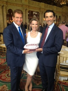 Joe Theismann with Shannon Del Prado and Skip Pita 1