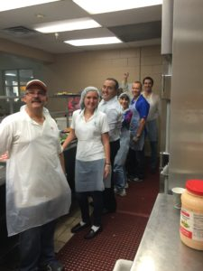 Pita Weber Del Prado and the MDTLA volunteering at the Chapman Partnership