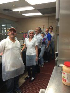 Pita Weber Del Prado and the MDTLA volunteering at the Chapman Partnership