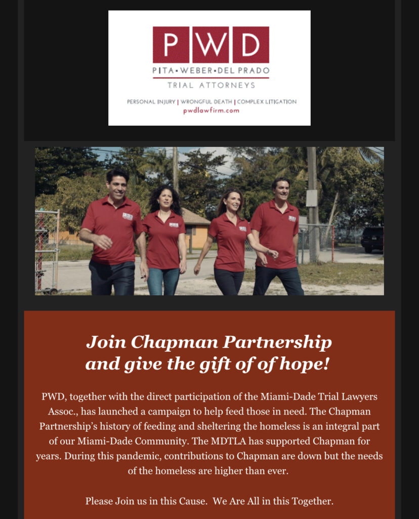 Join Chapman Partnership And Give The Gift Of Hope